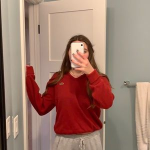vintage red lacoste sweater